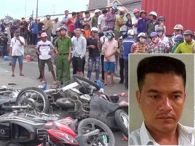 Tài xế xe container gây tai nạn ở Long An ngày 2-1 đã dương tính với ma túy. Ảnh: CTV