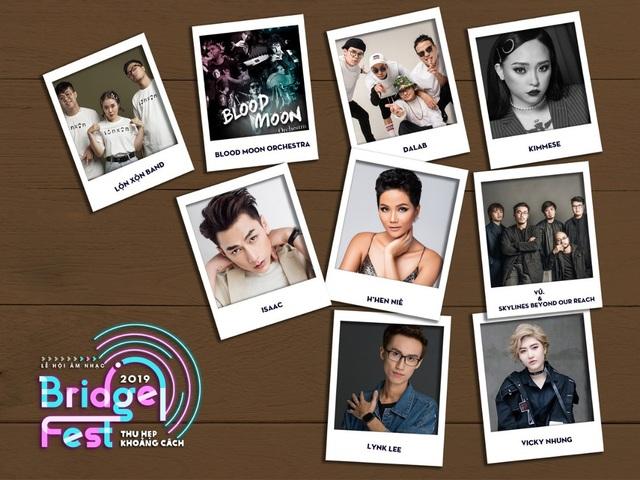 BridgeFest 2019 hội tụ dàn nghệ sỹ đa dạng đến từ nhiều dòng nhạc