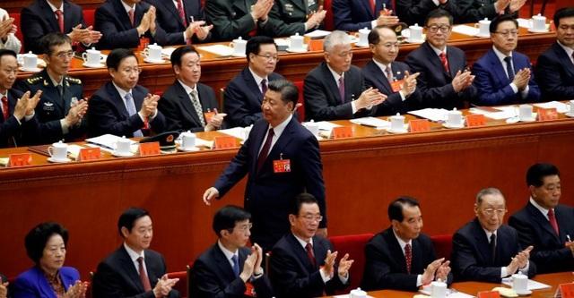 Ông Tập Cận Bình dự đại hội đảng Cộng sản Trung Quốc năm 2017. (Ảnh: Xinhua)