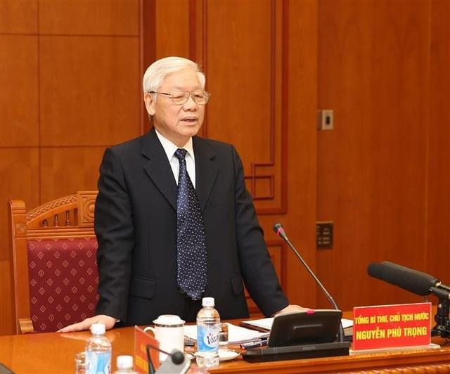 Tổng Bí thư, Chủ tịch nước Nguyễn Phú Trọng phát biểu chỉ đạo phiên họp. Ảnh: Trí Dũng – TTXVN