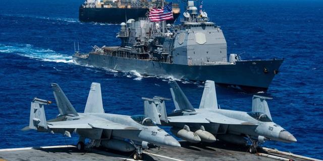 Tàu sân bay Mỹ sẵn sàng đối phó mối đe dọa từ Trung Quốc - Ảnh 1.