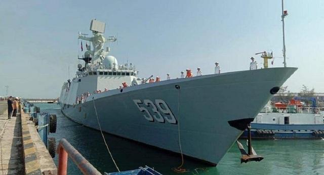 3 tàu chiến Trung Quốc cập cảng Campuchia giữa tin đồn xây căn cứ hải quân - Ảnh 1.