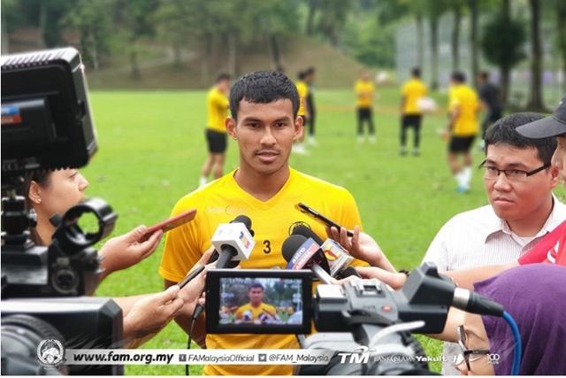 Trung vệ Malaysia không ngại phải thi đấu trên chảo lửa Mỹ Đình - 2