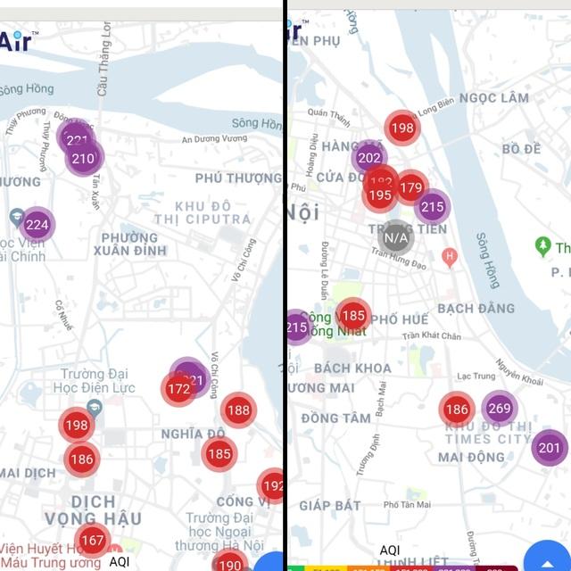 Ứng dụng PAM Air cảnh báo nhiều khu vực tại Hà Nội chuyển sang ngưỡng rất nguy hại cho sức khỏe - 3