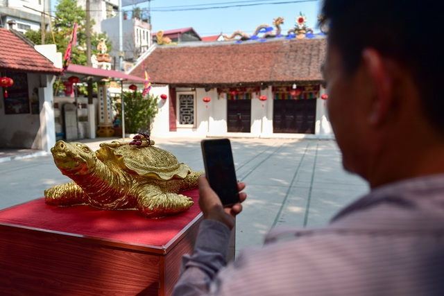 Mục sở thị cụ rùa mạ vàng 9999, giá trăm triệu đồng không bán - 14