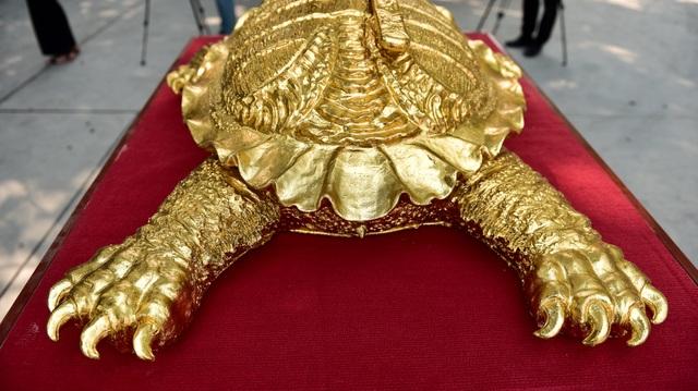 Mục sở thị cụ rùa mạ vàng 9999, giá trăm triệu đồng không bán - 7