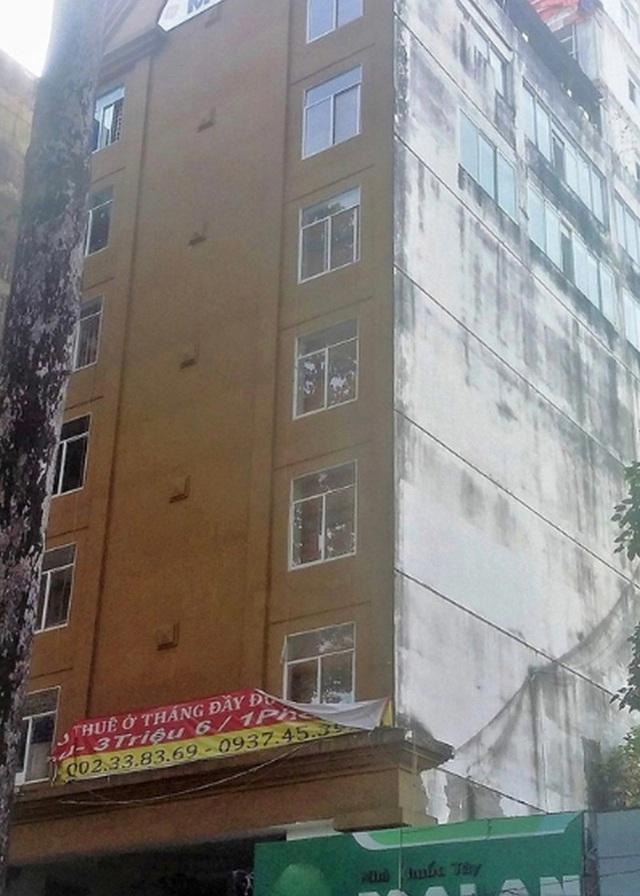 Đình chỉ hoạt động kinh doanh vì toà nhà xây vượt 5 tầng - 1