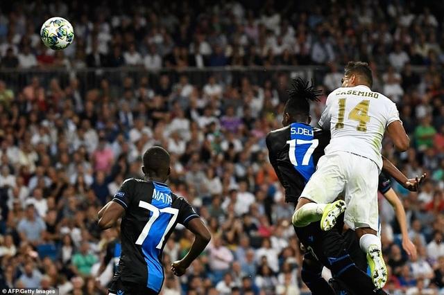 """Casemiro ghi bàn, Real Madrid """"hút chết"""" trước Club Brugge - 10"""