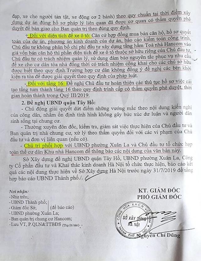 Vụ cư dân Hancom kêu cứu đỏ tòa nhà: Yêu cầu báo cáo Thủ tướng kết quả giải quyết - 6