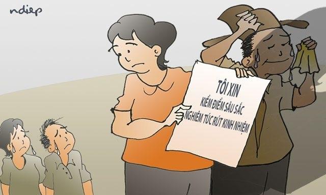 Vì sao vợ ông Triệu Tài Vinh không biết con mình được nâng điểm mà vẫn bị kiểm điểm? - 1