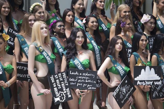 Hoàng Hạnh diện bikini khoe dáng tại Hoa hậu Trái đất 2019 - 3