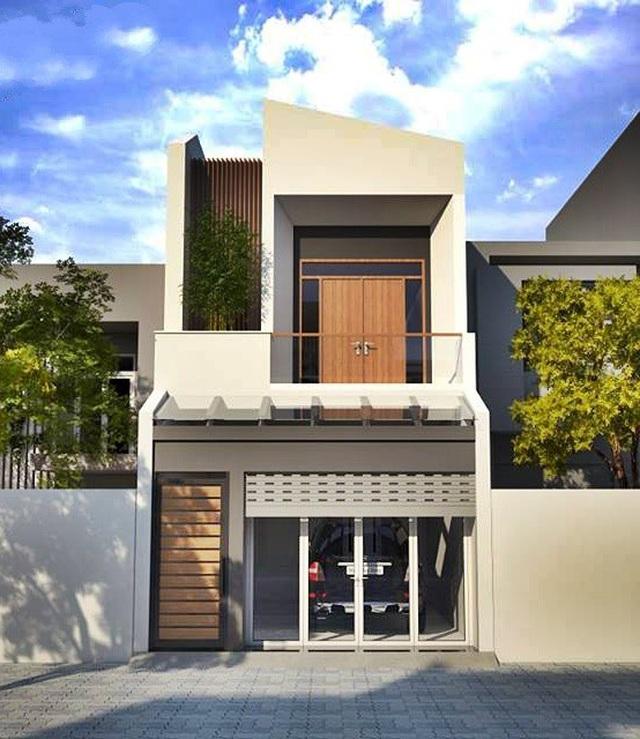 Mẫu nhà phố 2 tầng tuyệt đẹp cho khu đất mặt tiền hẹp - 1