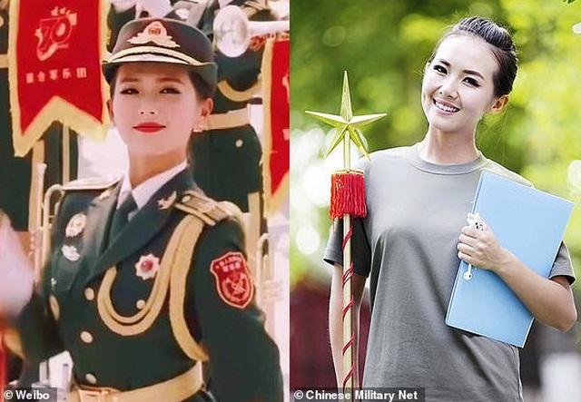 Nữ quân nhân gây sốt trong lễ duyệt binh Trung Quốc - 1