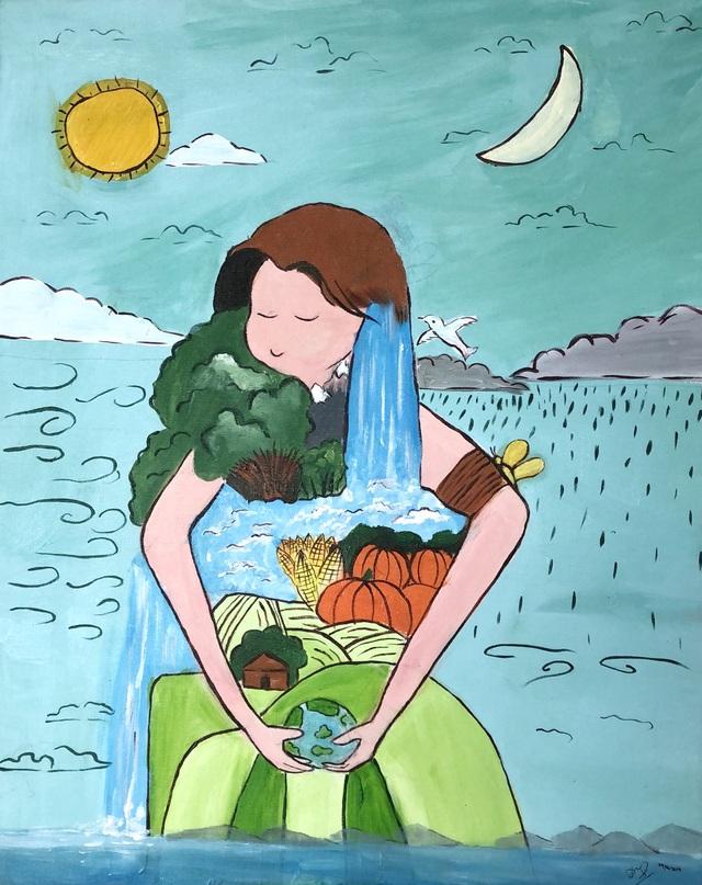 Hà Nội: Học sinh phổ thông vẽ tranh bảo vệ môi trường - 2