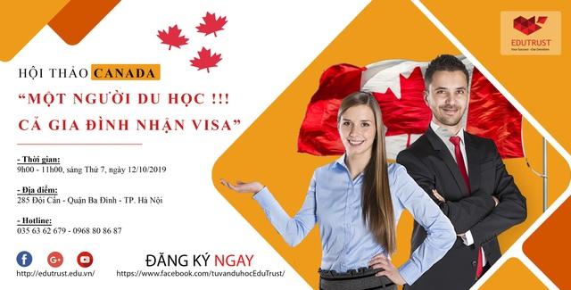 Một người du học - Cả gia đình nhận Visa Canada - 1