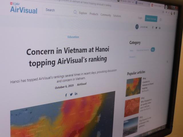 AirVisual giải thích nguyên nhân Hà Nội có mức độ ô nhiễm nhất thế giới vài ngày qua - 1