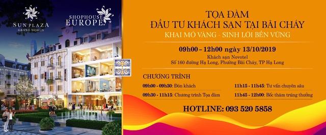 Sự kiện Tọa đàm tháng 10 – trung tâm chú ý cho nhà đầu tư khách sạn tại Bãi Cháy - 2