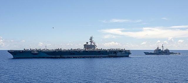 Nhóm tác chiến tàu sân bay, tàu đổ bộ Mỹ tập trận đạn thật tại Biển Đông - 4