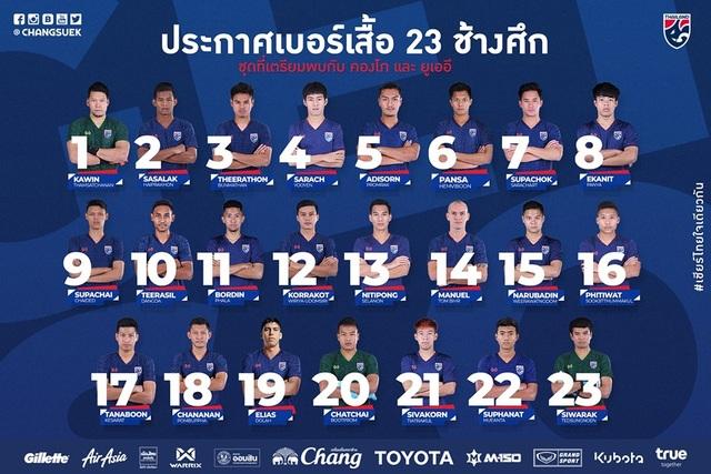 Dangda nhận lại chiếc áo số 10 tuyển Thái Lan từ Chanathip - 1