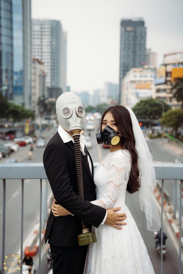 Bộ ảnh đeo mặt nạ cảnh báo ô nhiễm không khí gây ám ảnh dân mạng - 5