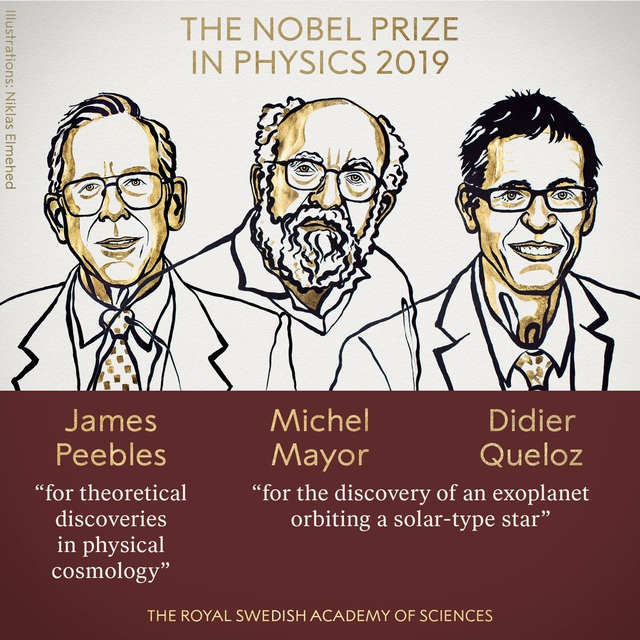 Nobel Vật lý 2019 trao cho 3 nhà khoa học