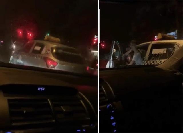 Tài xế taxi Thanh Nga hung hăng đòi đốt xe người dừng đèn đỏ - 1