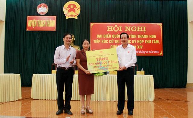 Bộ trưởng Đào Ngọc Dung tiếp xúc cử tri tại Thanh Hoá  - 1