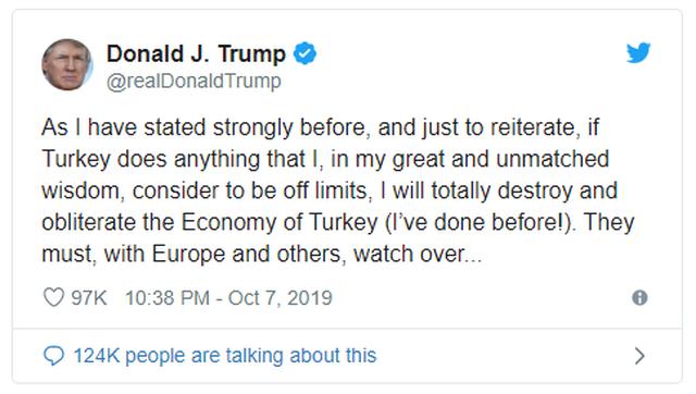 Ông Trump dọa hủy diệt, xóa sổ kinh tế Thổ Nhĩ Kỳ - 2