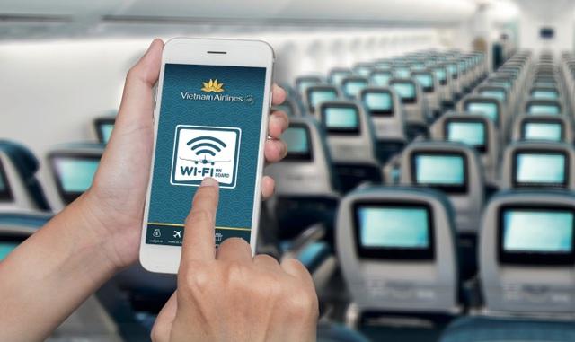 Vietnam Airlines bắt đầu cung cấp Wi-Fi phục vụ hành khách trên chuyến bay - 1