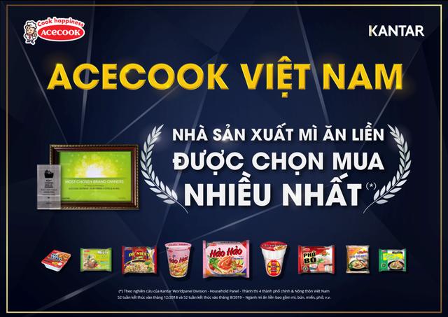 Acecook Việt Nam là nhà sản xuất mì ăn liền được người tiêu dùng lựa chọn nhiều nhất năm 2018, 2019 - 1