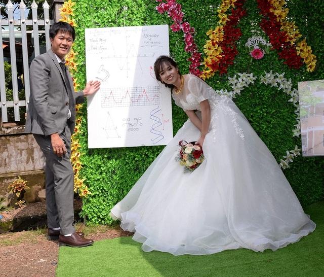 """Độc đáo """"ảnh cưới"""" bằng đồ thị, ADN của thầy dạy Sinh và cô dạy Toán - 2"""