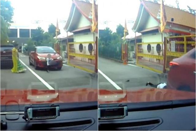 Thót tim khoảnh khắc bé trai 3 tuổi chạy sang đường bị ô tô tông trúng - 1