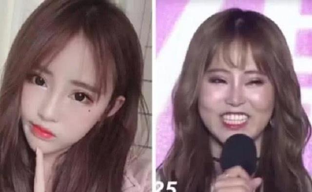 Hoảng hốt vì mặt mộc của các hot girl mạng xã hội Trung Quốc - 4