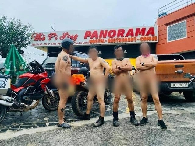 Vì sao không xử phạt 4 người khoả thân chụp ảnh trên đèo Mã Pí Lèng? - 2