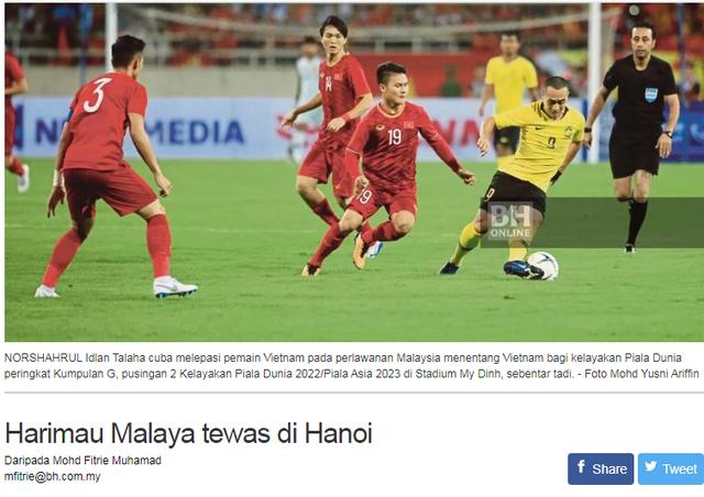Báo Malaysia tâm phục khẩu phục sau thất bại trước đội tuyển Việt Nam - 2
