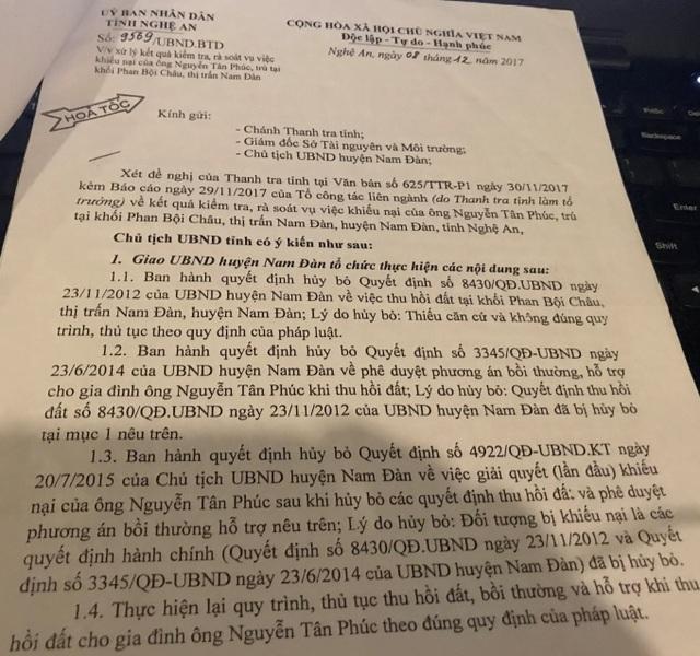 Vụ thu hồi đất vô lý, dân kiện chính quyền ra tòa: Tỉnh Nghệ An quyết liệt chỉ đạo! - 2