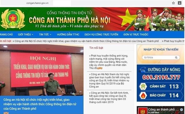 Vận hành chính thức Cổng thông tin điện tử Công an thành phố Hà Nội - 2