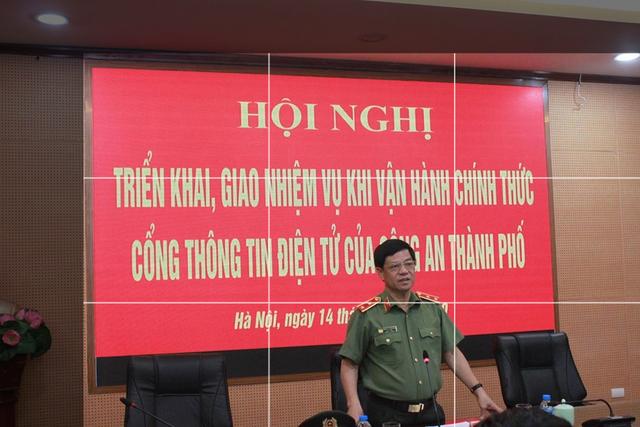 Vận hành chính thức Cổng thông tin điện tử Công an thành phố Hà Nội - 1