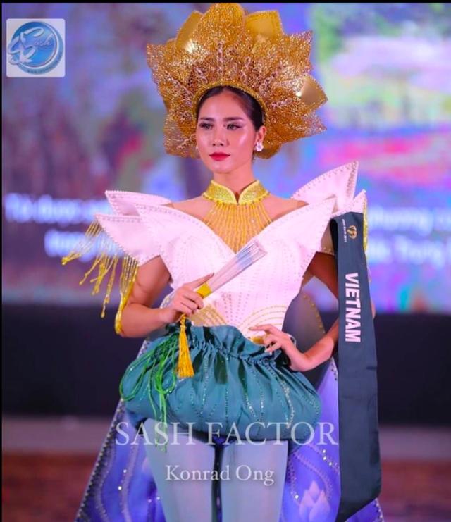 Hoàng Hạnh nhận giải đồng trang phục dân tộc ở Hoa hậu Trái đất 2019 - 1