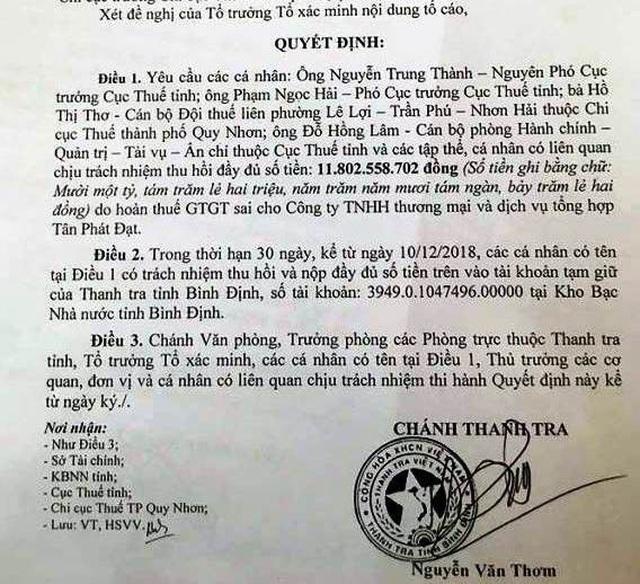 Cục trưởng Cục Thuế tỉnh Bình Định bị giáng chức - 2
