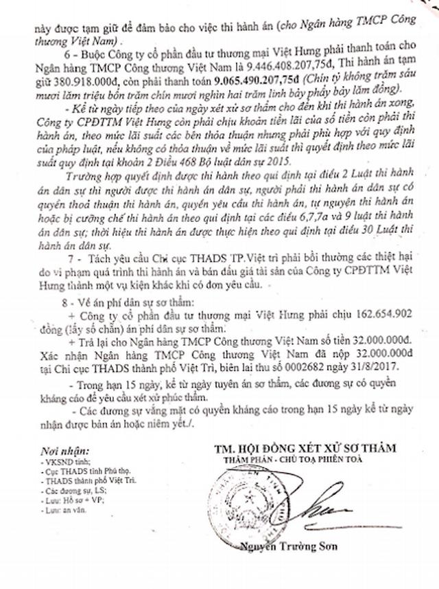 """Vụ thi hành án """"chấn động"""" TP Việt Trì: Bị bắt xử lại, Toà tỉnh Phú Thọ tuyên gì? - 6"""