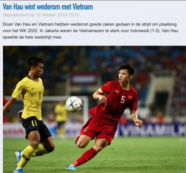 """CLB Heerenveen: """"Đội tuyển Việt Nam quá mạnh so với Indonesia"""" - 1"""