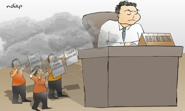Công dân 5 quận Thủ đô: Hít khói thủy ngân, uống nước váng dầu? - 1
