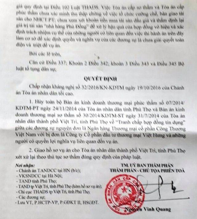 """Vụ thi hành án """"chấn động"""" TP Việt Trì: Bị bắt xử lại, Toà tỉnh Phú Thọ tuyên gì? - 2"""