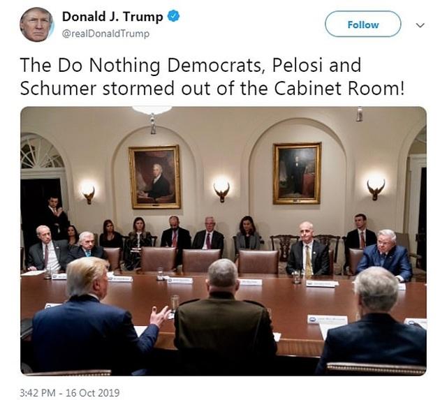 Ông Trump khẩu chiến dữ dội với phe Dân chủ tại Nhà Trắng - 2