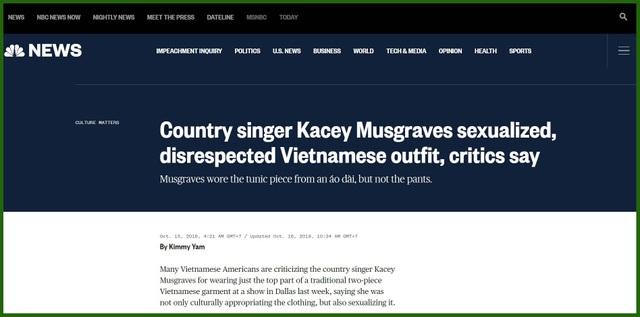 """Các tờ tin tức nước ngoài nói gì về nữ ca sĩ mặc """"áo dài... không quần""""? - Ảnh minh hoạ 2"""
