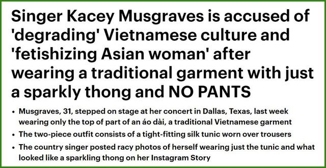 """Các tờ tin tức nước ngoài nói gì về nữ ca sĩ mặc """"áo dài... không quần""""? - Ảnh minh hoạ 3"""