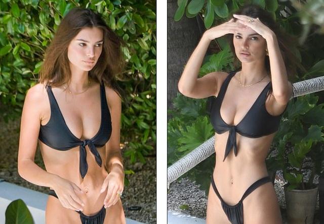 Emily Ratajkowski lấp ló ngực đầy - 1