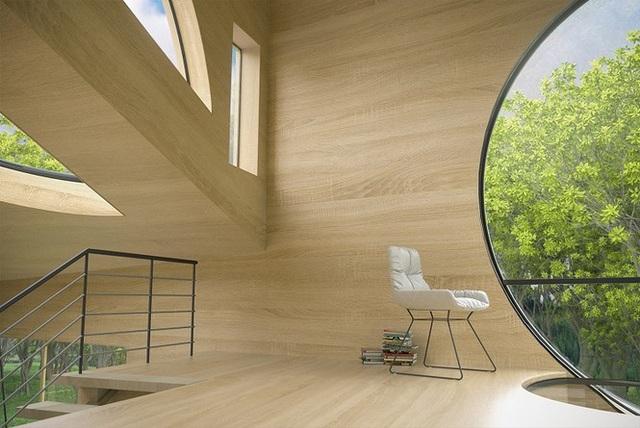 Nhà gỗ hình thang giữa rừng với cửa độc đáo đẹp hút mắt - 4