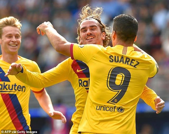 """Messi, Suarez, Griezmann cùng lập công, Barcelona đại thắng """"3 sao"""" - 2"""